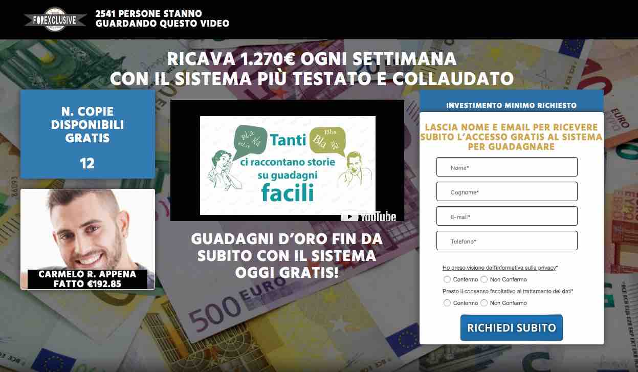 Banca per trading on line